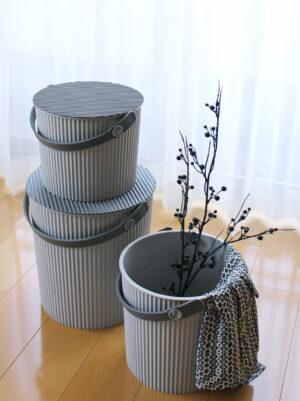Hachiman Kasei Omnioutil Naturaluxe Plastikspand med låg