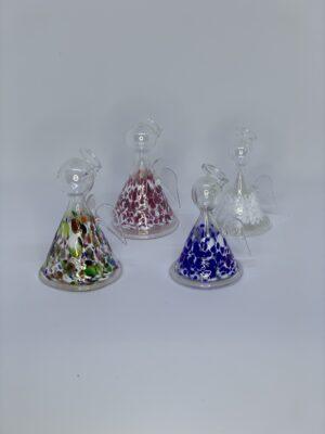 Reinhard Herzog Engle i tre størrelser mundblæst glas