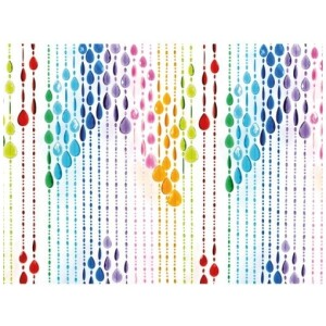 Curtain Beads plastic multi colour