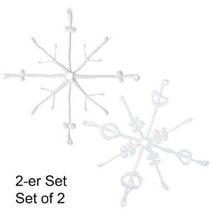 Flakes Ornament set of 2
